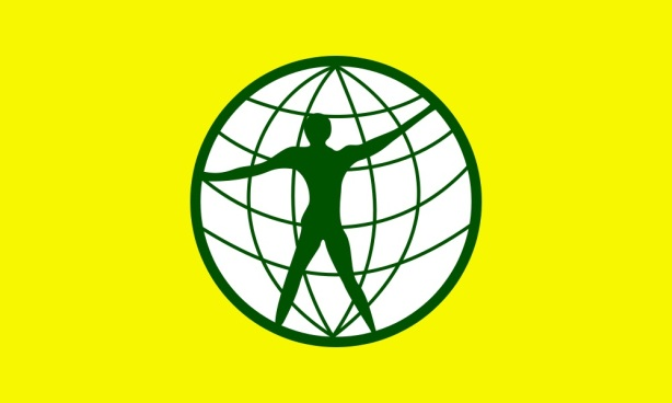 Drapeau des citoyens du monde par Garry Davis