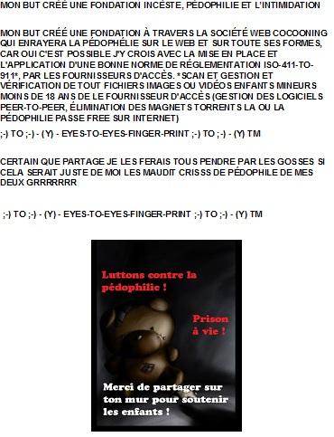 MON BUT CRÉÉ UNE FONDATION INCÈSTE, PÉDOPHILIE ET L'INTIMIDATION - 1