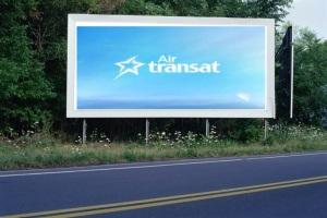PANNEAU, PRÉSENTATION, PUB, AIR TRANSAT 1