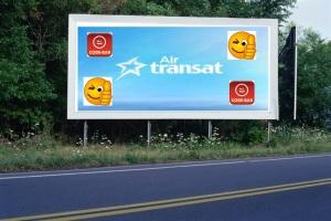 PANNEAU, PRÉSENTATION, PUB, AIR TRANSAT 3