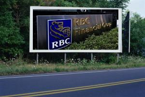 PANNEAU, PRÉSENTATION, PUB, Banque Royale du Canada (RBC) 1