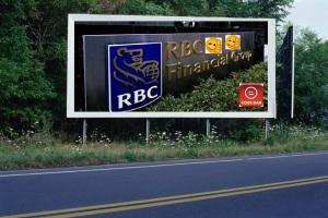 PANNEAU, PRÉSENTATION, PUB, Banque Royale du Canada (RBC) 3