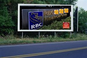 PANNEAU, PRÉSENTATION, PUB, Banque Royale du Canada (RBC) 4
