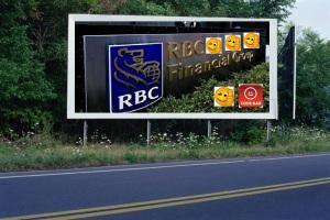 PANNEAU, PRÉSENTATION, PUB, Banque Royale du Canada (RBC) 5