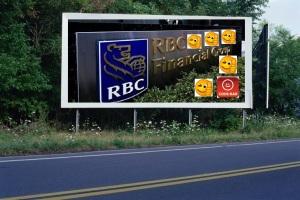PANNEAU, PRÉSENTATION, PUB, Banque Royale du Canada (RBC) 6