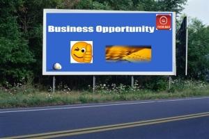 PANNEAU, PRÉSENTATION, PUB, BUSINESS OPPORTUNITY 2