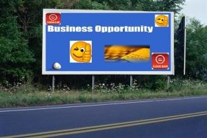 PANNEAU, PRÉSENTATION, PUB, BUSINESS OPPORTUNITY 3