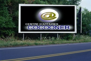 PANNEAU, PRÉSENTATION, PUB, CENTRE D'AFFAIRES COCOONER CENTRE D'AFFAIRES COCOONER 1