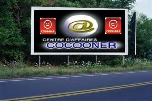 PANNEAU, PRÉSENTATION, PUB, CENTRE D'AFFAIRES COCOONER CENTRE D'AFFAIRES COCOONER 4