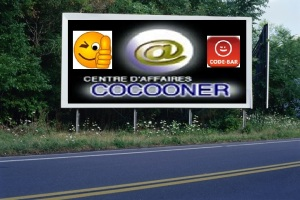 PANNEAU, PRÉSENTATION, PUB, CENTRE D'AFFAIRES COCOONER CENTRE D'AFFAIRES COCOONER 5