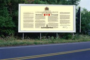 PANNEAU, PRÉSENTATION, PUB, Charte canadienne 1