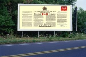 PANNEAU, PRÉSENTATION, PUB, Charte canadienne 2