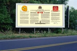 PANNEAU, PRÉSENTATION, PUB, Charte canadienne 3