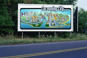 PANNEAU, PRÉSENTATION, PUB, Cocooning City 4