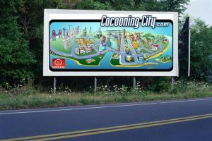PANNEAU, PRÉSENTATION, PUB, Cocooning City 5