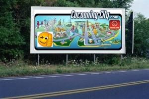 PANNEAU, PRÉSENTATION, PUB, Cocooning City 6