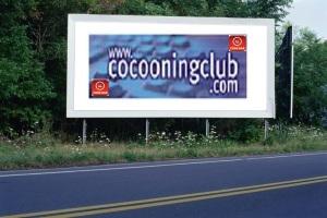 PANNEAU, PRÉSENTATION, PUB, Cocooning Club 2