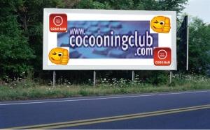 PANNEAU, PRÉSENTATION, PUB, Cocooning Club CODE-BAR 3