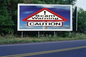 PANNEAU, PRÉSENTATION, PUB, Scam Warning 1