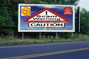 PANNEAU, PRÉSENTATION, PUB, Scam Warning 2