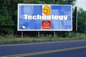 PANNEAU, PRÉSENTATION, PUB, TECHNOLOGY 2