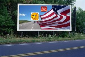 PANNEAU, PRÉSENTATION, PUB, US FLAG 2