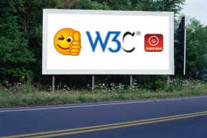 PANNEAU, PRÉSENTATION, PUB, W3C CODE-BAR