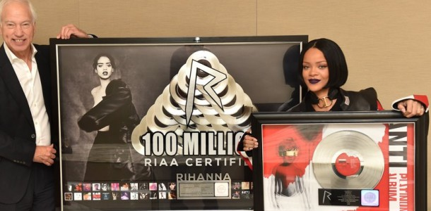 Rihanna Becomes First Ever Artist To Surpass 100 Million RIAA Song Certifications 07-01-2015 2