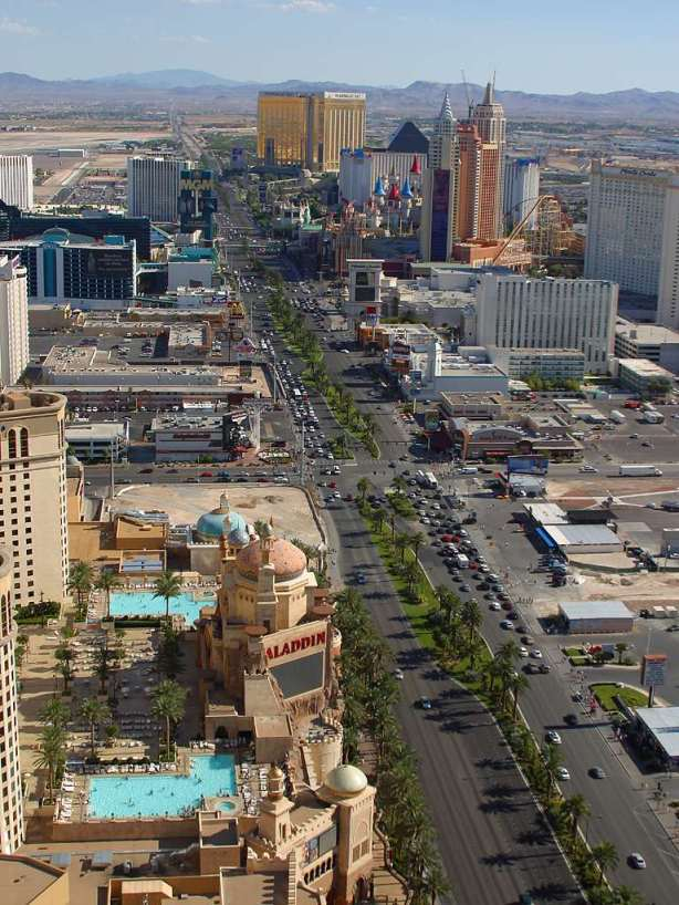 The Strip, boulevard où se trouvent les plus grands hôtels-casinos de Las Vegas