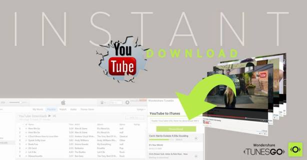 WONDERSHARE YOUTUBE TO TunesGo Frees